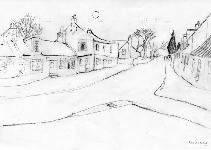 Line Art Village : Temple midlothian artist